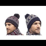 Mens Brushed Acrylic Fairisle Hat (GL335A)
