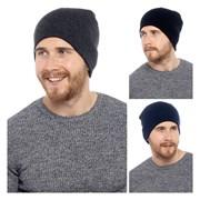 rjm Mens Plain Black Beanie Hat (GL392)