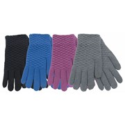 Ladies Textured Touch Screen Gloves (GL537)