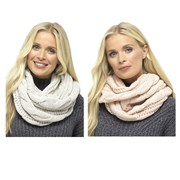 rjm Ladies Chunky Cable Snood Asst Colours (GL576A)