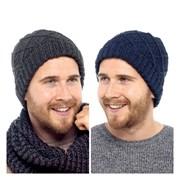 rjm Mens Cable Knit Beanie Hat (GL615)