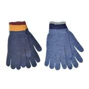 rjm Mens Touch Screen Gloves With Striped Cuff Asst (GL631A)