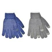 rjm Mens Marl Touchscreen Glove With Grip Asst (GL632)