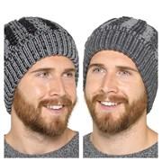 Mens Hat With Fleece Lining Grey & Black (GL639)