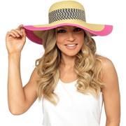 Rjm Ladies Floppy Hat With Pink Trim (GL715)