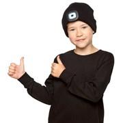 rjm Kids Black Led Hat 6-9 & 10-13 Years (GL940)