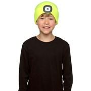 rjm Kids Neon Yellow Led Hat 6-9 & 10-13 Years (GL941)