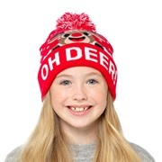 rjm Kids Xmas Design Bobble Hat (GL951)
