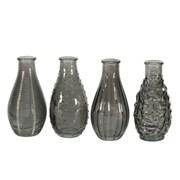 Vintage Bud Vase Asstd Dove Grey 14cm (GLA3084)
