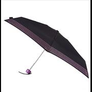 Totes Isotoner Compact Round Glitter Stripe Umbrella (8073LNF)