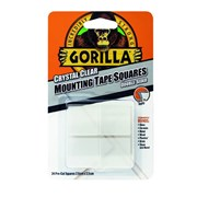 Gorilla Mounting Tape 2.5cm Clear Squares 24s (3044111)