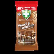 Greenshield Wood & Laminate Wipes 40% Extra 70s