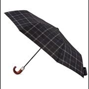 Totes Isotoner Mens Auto O/c Xtra Strong Grey Check Umbrella (7817PRT)