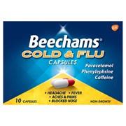 Beechams Cold & Flu Capsule 10s (GSK013547)
