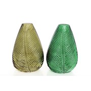Sifcon Green Leaf Vase 22cm (GW1530)