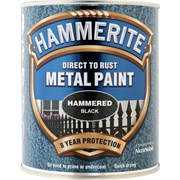Hammerite Hammered Paint Black 750ml (5092955)