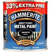 Hammerite Smooth Paint Black+33% 750ml (5158235)
