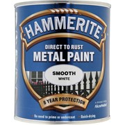 Hammerite Smooth Paint White 750ml (5092956)