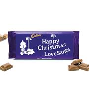 Cadburys Dairy Milk Happy Christmas Love Santa 110g (1032-112-1386-2)