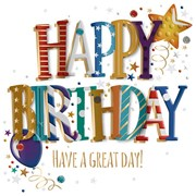 Have A Great Day Birthday Card (MWER0143)