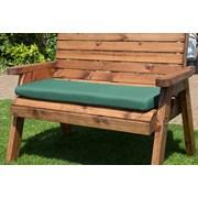 Charles Taylor Two Seat Bench Cushion Green (HB34BG)