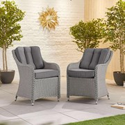 Heritage Camilla Dining Chairs - Pair - White Wash