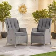 Heritage Carolina Dining Chairs - Pair - White Wash