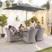 Heritage Leeanna 6 Seat Dining Set - 1.5m x 1m Rectangular Table - White Wash