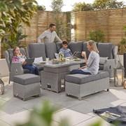 Heritage Skylar Corner Dining Set with Rising Table - White Wash