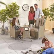 Heritage Thalia 2 Seat Bistro Set - 75cm Round Table - Willow