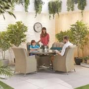 Heritage Thalia 4 Seat Dining Set - 1.2m Round Table - Willow