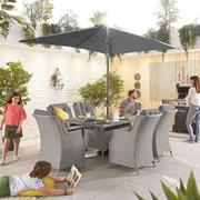 Heritage Thalia 6 Seat Dining Set - 1.5m x 1m Rectangular Table - White Wash