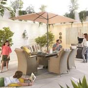 Heritage Thalia 6 Seat Dining Set - 1.5m x 1m Rectangular Table - Willow