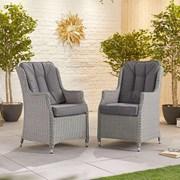 Heritage Thalia Dining Chairs - Pair - White Wash