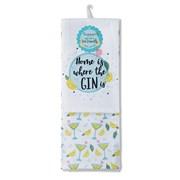 Cooksmart Home Is Where The Gin Is Tea Towel 2pk (1444)