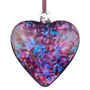 Frendship Heart Blue & Pink 8cm (HR8BLPI)