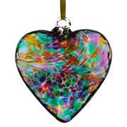 Frendship Heart Multicoloured Turquoise 8cm (HR8MUTU)