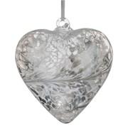 Frendship Heart Pastel Silver 8cm (HR8PASTELSI)