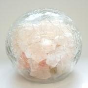 Himalayon Pink Salt Crackle Glass Ball (HS1600)