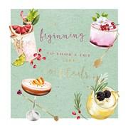 Cocktail Oclock B/day Card (II1113W)
