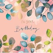 Eucalyptus Watercolour B/day Card (II1152W)
