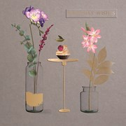 Flowers In Jars B/day Card (IJ0017W)