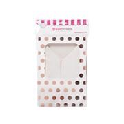 Sq Treat Boxes Rose Gold Polka Dot 2s (J104)