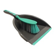 Jvl Dust Pan & Brush Set With Rubber Grip (20-039GY)