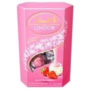 Lindt Lindor Strawberry & Cream Cornet 200g (K552)