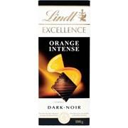 Lindt Excellence Orange Intense Bar 100g (K662)