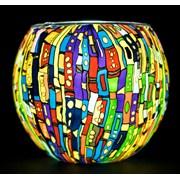 Light Glass Tealight Holder Kaleidoscope (BELG165042)
