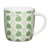 Kitchen Craft Kc China Barrel Shape Mug Green Leaf 425ml (KCMBAR135)