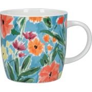Kitchen Craft Kc China Abstract Flower Barrel Mug (KCMBAR166)