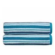 Kingsley Carnival Stripe Hand Towel Peacock (10383090)